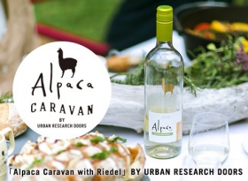 「Alpaca Caravan with Riedel」BY URBAN RESEARCH DOORS
