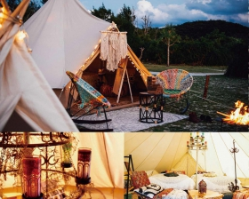 GLAMPING in GREEN